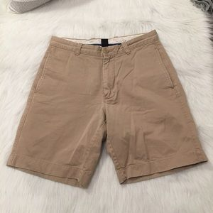 J. Crew Khaki Flat Front Casual Shorts Size 30W